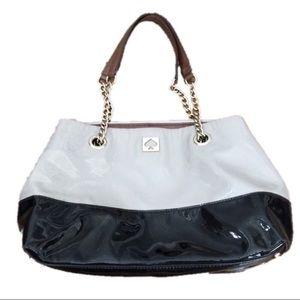 Kate Spade Black & Tan Patent Leather Tote Bag